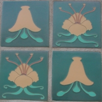 Bell Flower  and Water Lilly Tiles