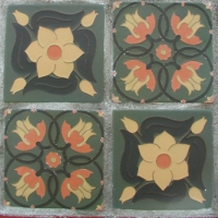 Tulip Flower and Boddington Tiles